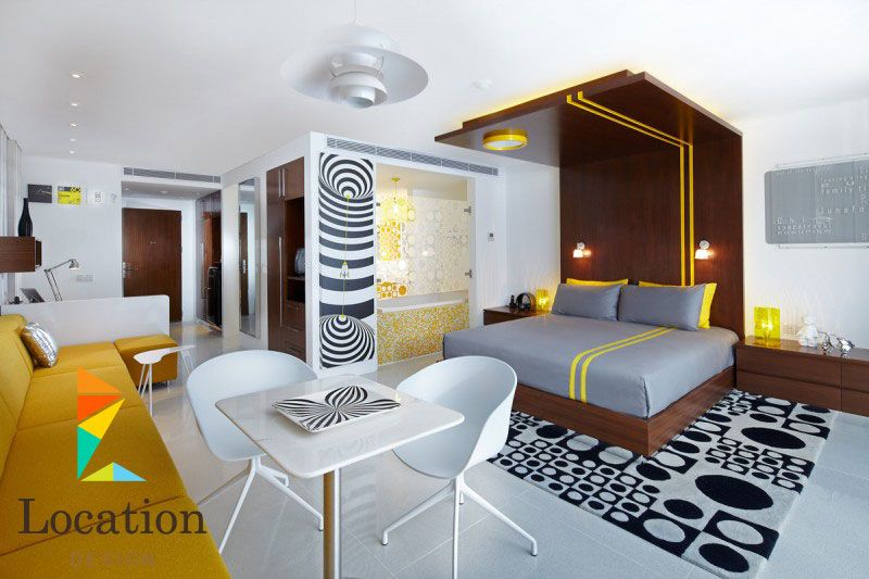 غرف نوم 7 تصميمات مبتكره تمزج بين أرضية الغرفة وسقفها بواجهة الاسرة لوكيشن ديزين نت ديكور ت Bedroom Design Luxury Hotel Design Boutique Hotels Design