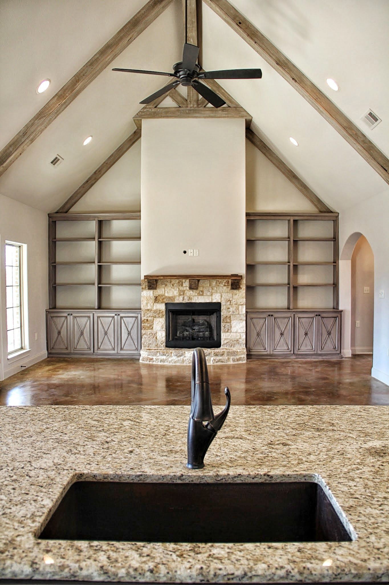 Vaulted Ceiling with Faux Painted Beams Photo Gallery ...