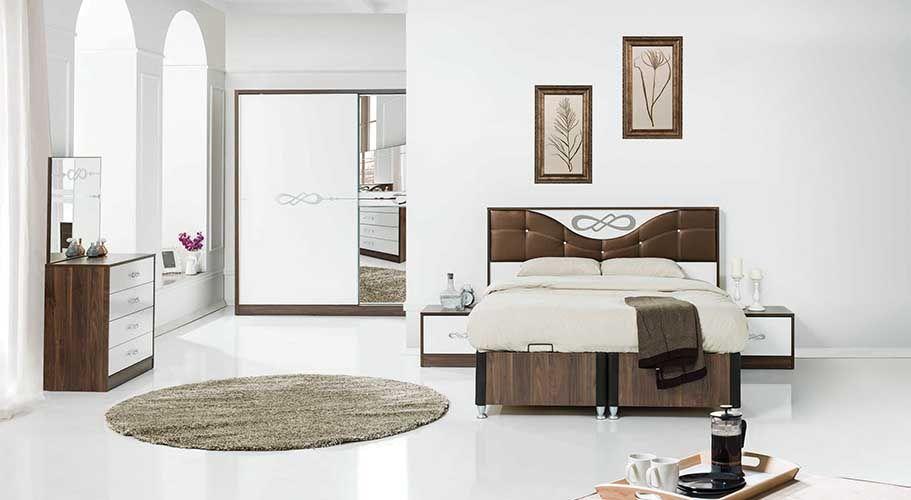 Schlafzimmer Relax 5tlg zum Tagträumen Wie eine Kaffeebohne, so - schlafzimmer braun weiß