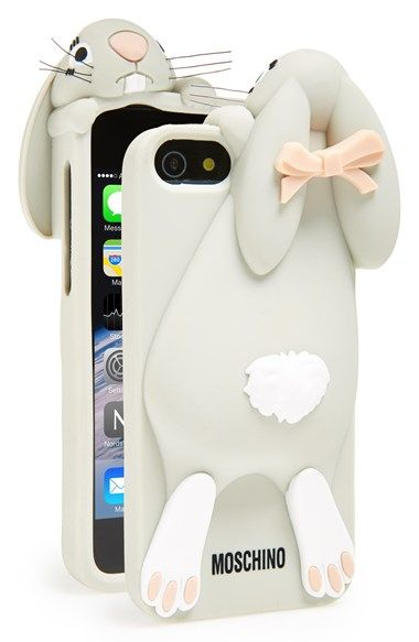 new style 92a10 c8a30 Moschino 'Rabbit' 3D Rubber iPhone 5 Case at Nordstrom.com. An ...