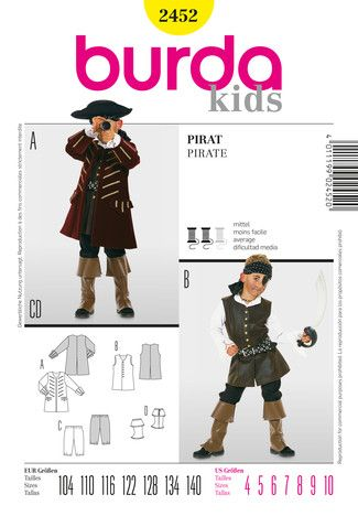 Pin von N Enns auf Kostüme | Pinterest | Pirat, Kostüm und ...
