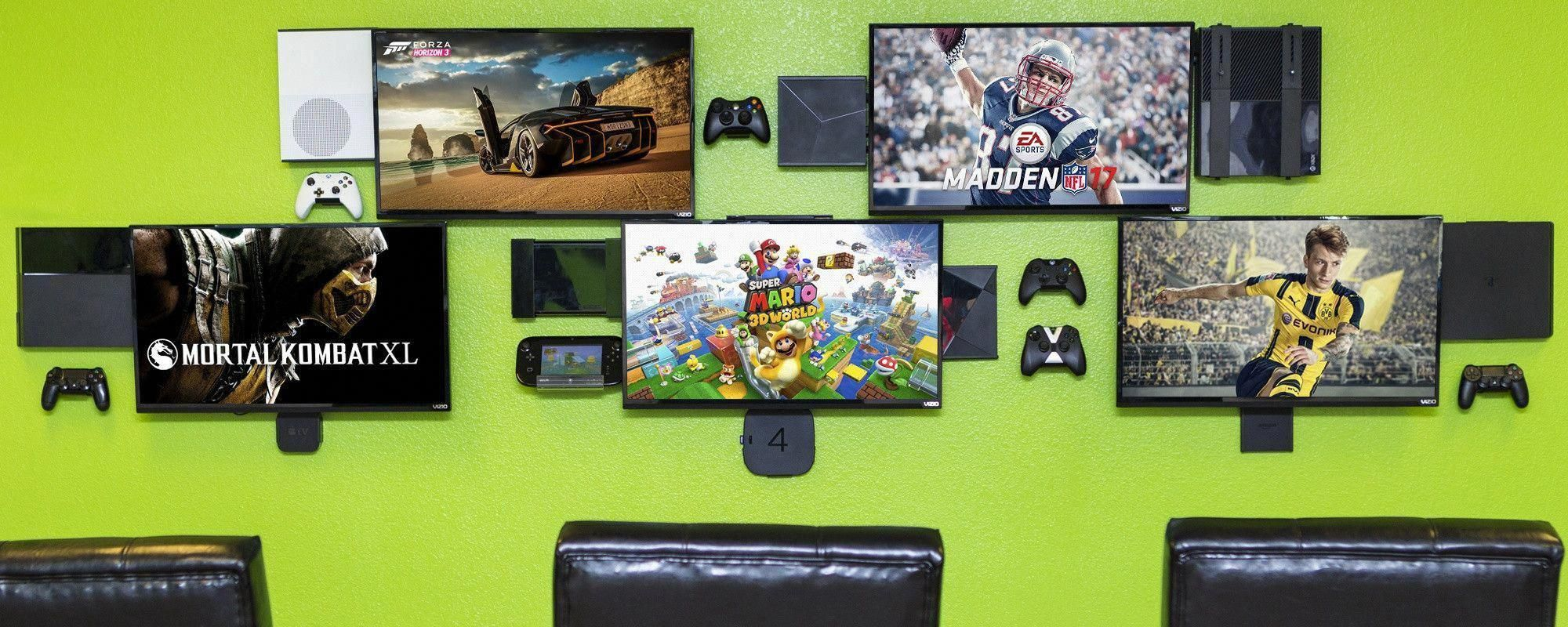 Universal Wall Mounts for Playstation, Xbox, Wii, Apple TV