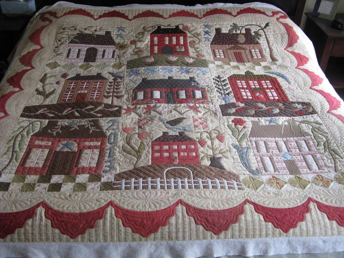 Awesome Quilt With Lots Of Pictures Home Sweet Home By
