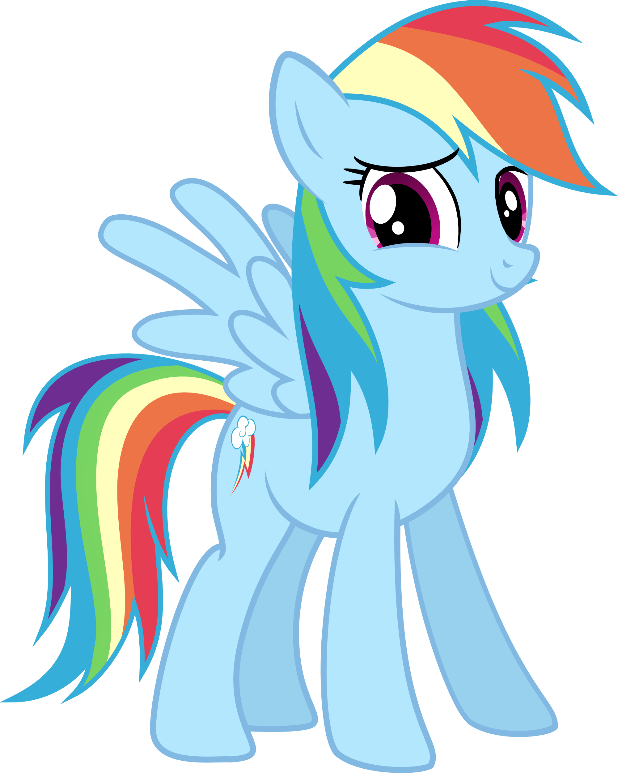 Happy Rainbow Rainbow Dash Little Pony My Little Pony