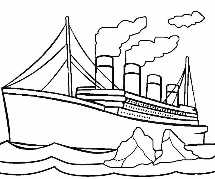 Pin By Winda Purwasari On Ship Printable Coloring Pages Coloring Pages For Kids Titanic Drawing