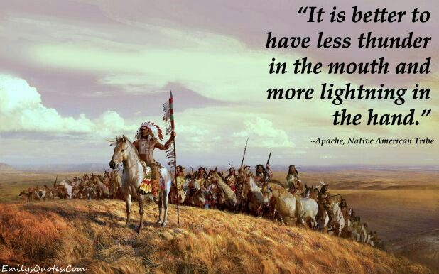 American indian true word of saying