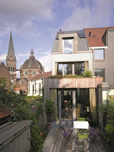 petite maison mitoyenne uccle recherche google extension pinterest logement bois et maisons. Black Bedroom Furniture Sets. Home Design Ideas