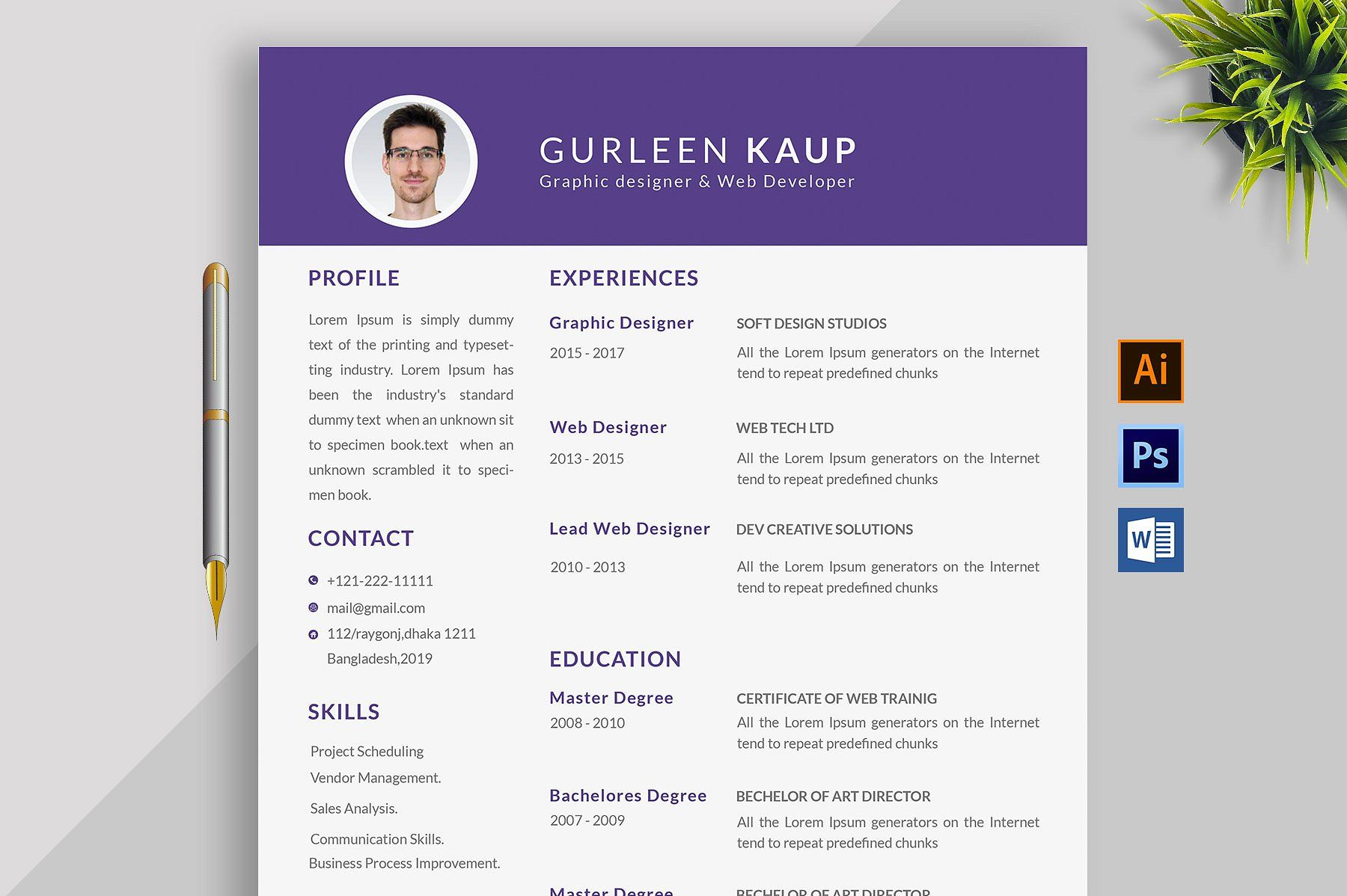 49++ Really cool resume designs Format