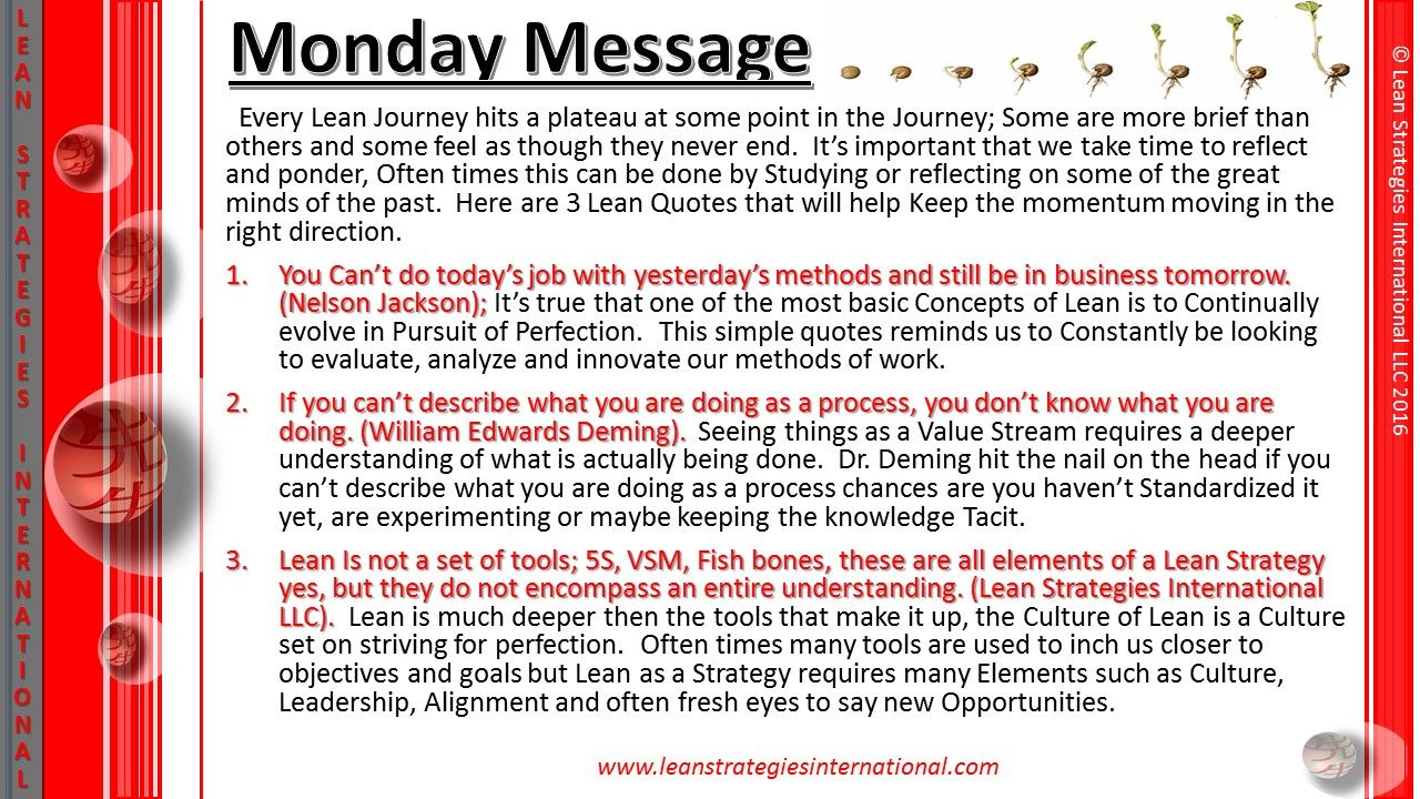 Studying The Past Often Gives Us Insight To The Future Enjoy This Week S Monday Message With 3 Great Quotes From Lean History Messages Great Quotes Feelings