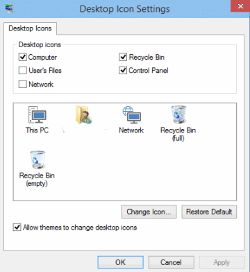 how to set computer icon on desktop in windows 10