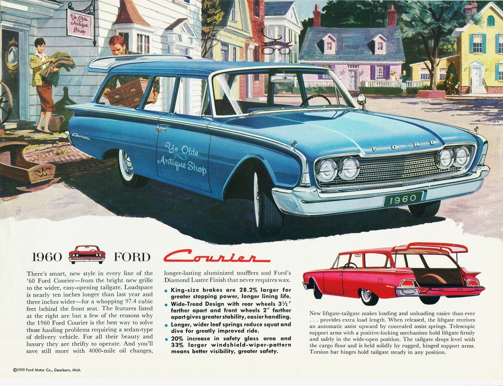 1960 Ford Courier Ad Ford Courier Ford Motor Company Automobile Advertising