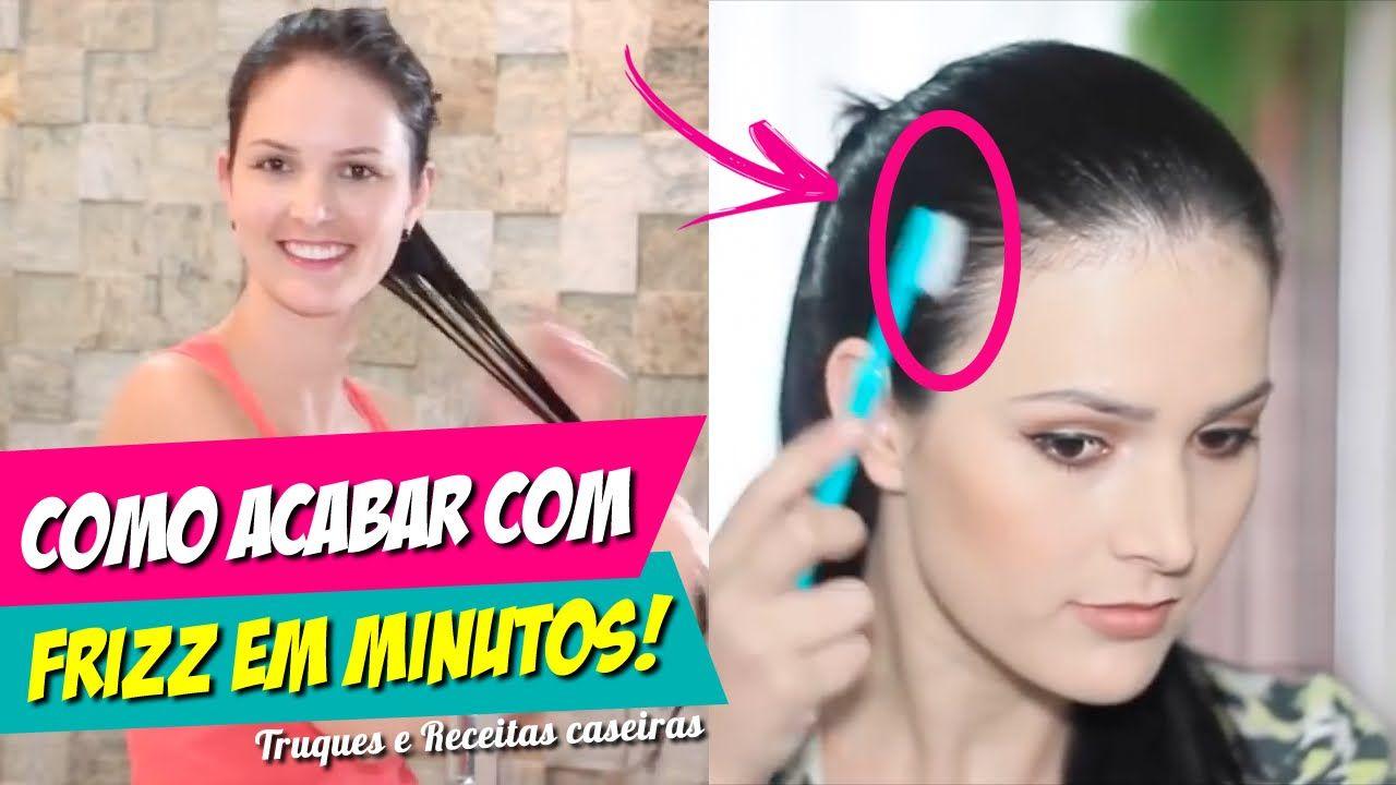 COMO ACABAR COM O FRIZZ DO CABELO EM MINUTOS, ACREDITE    TRUQUES e REC...