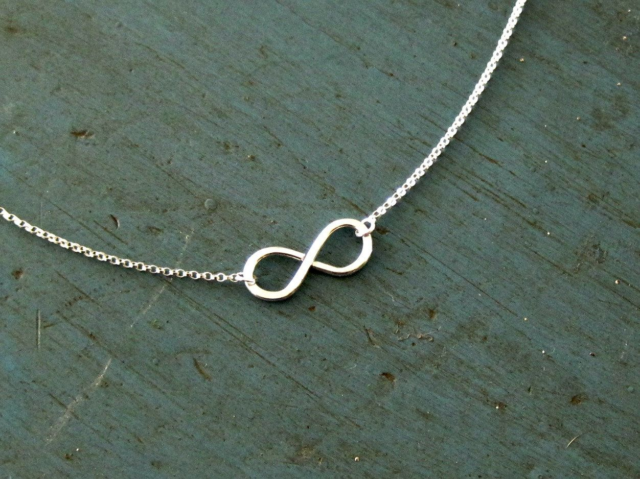 Infinity Necklace Bridesmaid Gift Silver Infinity Rose gold Infinity