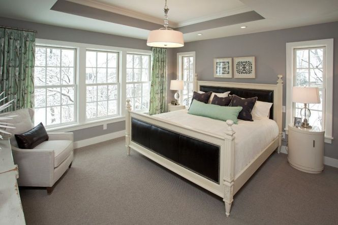 Benjamin Moore Stonington Gray For A Traditional Bedroom With - Benjamin Moore Stonington Gray For A Traditional Bedroom With