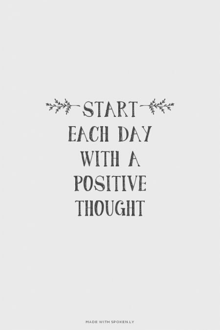 Commit To 1 Positive Thought Every Day Positive Words Quotes