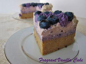 Fragrant Vanilla Cake: Raw Blueberry Almond Lavender Cake
