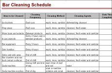 Bar Cleaning Schedule | Bar stuff | Pinterest | Bar, Cleaning ...