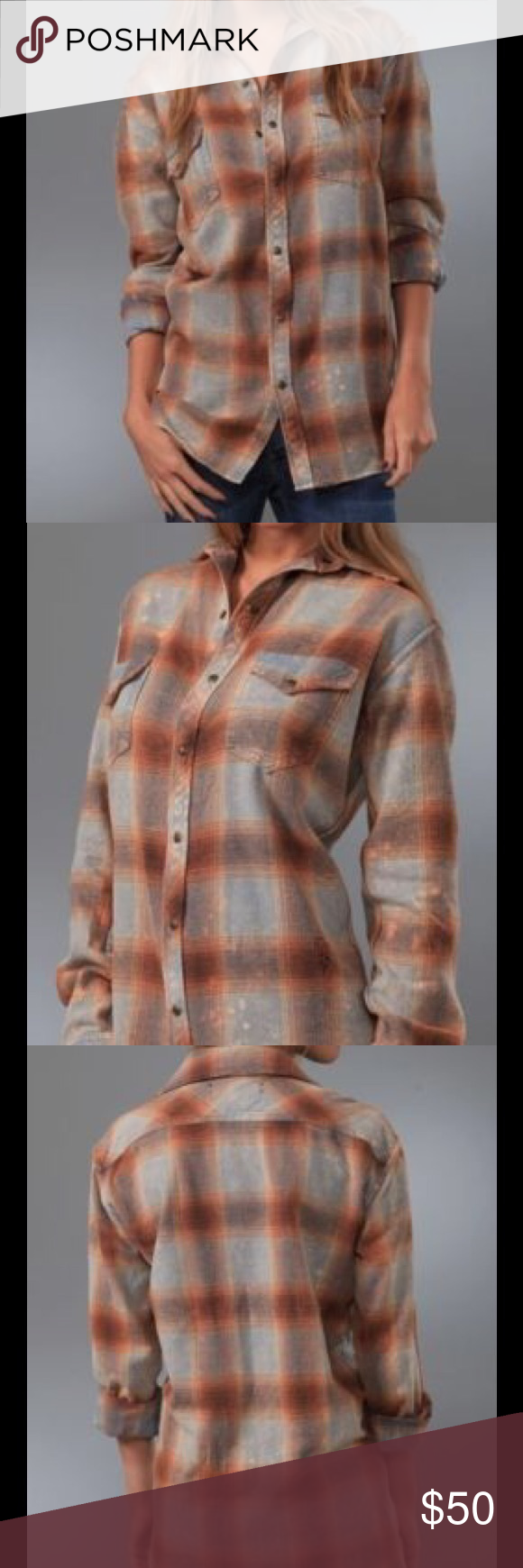 Flannel shirt xs  TEXTILE Elizabeth and James Blake Plaid Shirt XS Gently used Textile