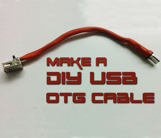 How To Make Usb Otg Cable Pinterest Cable Tech And Arduino