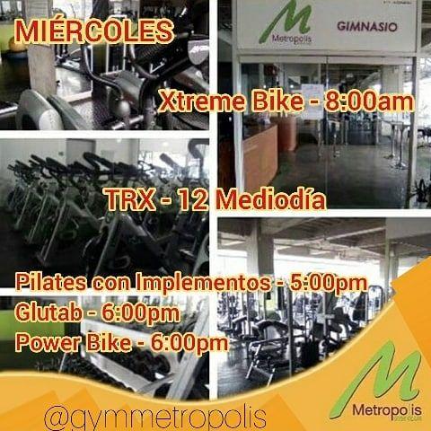 MIERCOLES EN @gymmetropolis  Con la incorporación de nuevas clases TRX y pilates con implementos.  N...