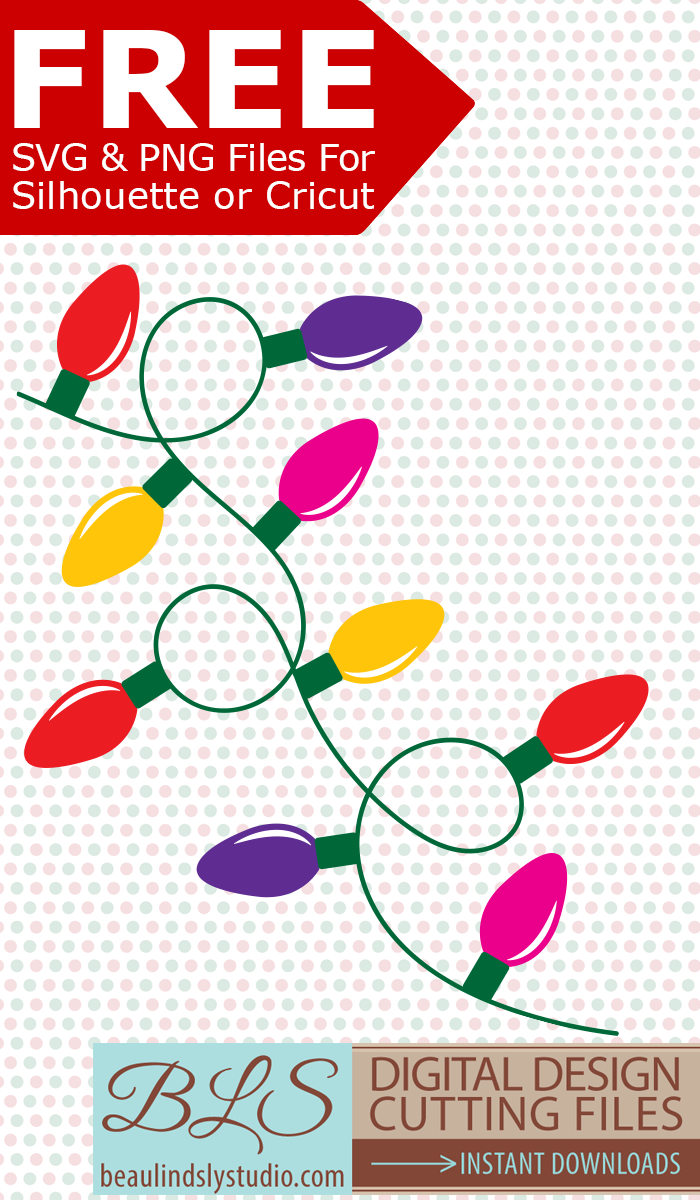 Free Christmas Lights Svg.Pin By Amanda Sperling Tyner On Cricut Svg Files For