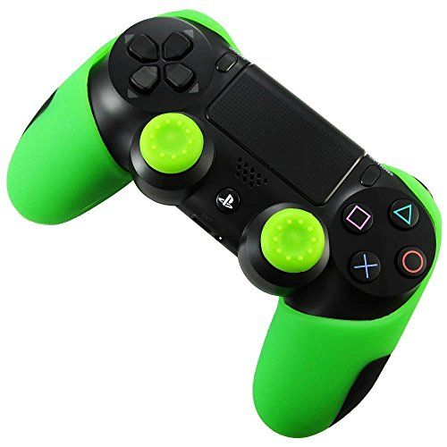Pandaren Soft Silicone Thicker Half Skin Cover For Ps4 Controller Set Green Skin X 1 Thumb Grip X 2 Want To Ps4 Controller Ps4 Controller Skin Playstation