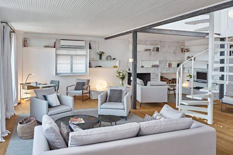 idee deco salon gris clair meubles gris clair