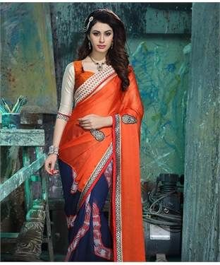 Chiffon Net Saree with Blouse | I found an amazing deal at fashionandyou.com and I bet you'll love it too. Check it out!