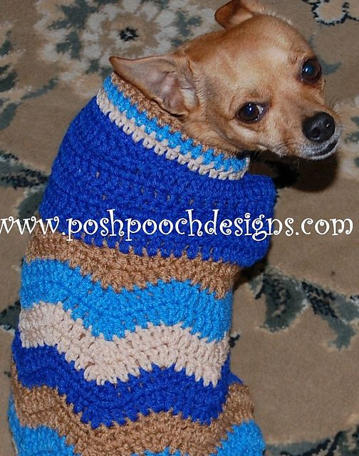 Chevron Dog Sweater For Small Dogs Pattern By Sara Sach Posh Pooch