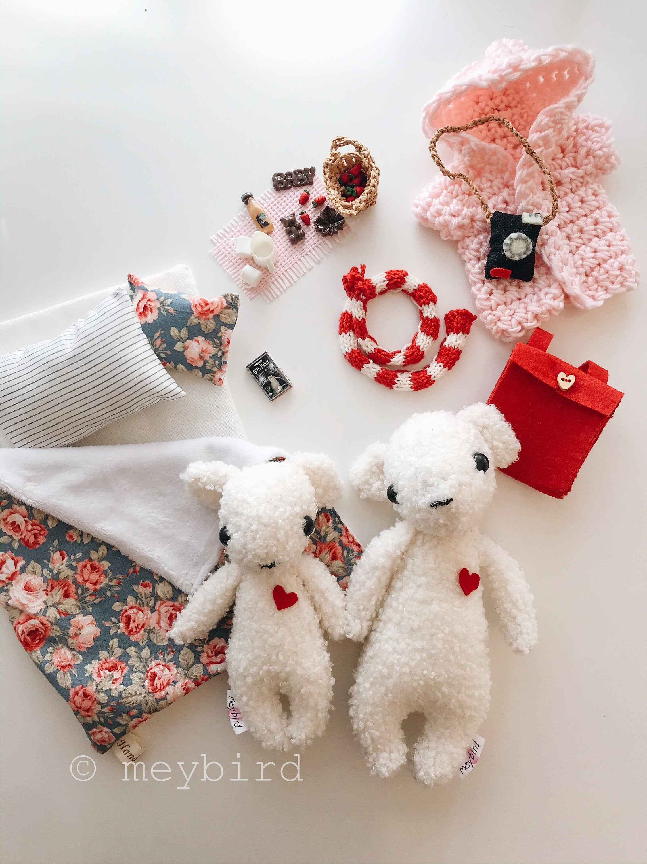 Polar Bear Family Toys, Teddy Bear in suitcase, Gift box for Kids, Kuscheltier Bär, Kids toys for traveling #dollcare