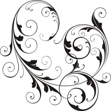Whimsical Swirls Clipart