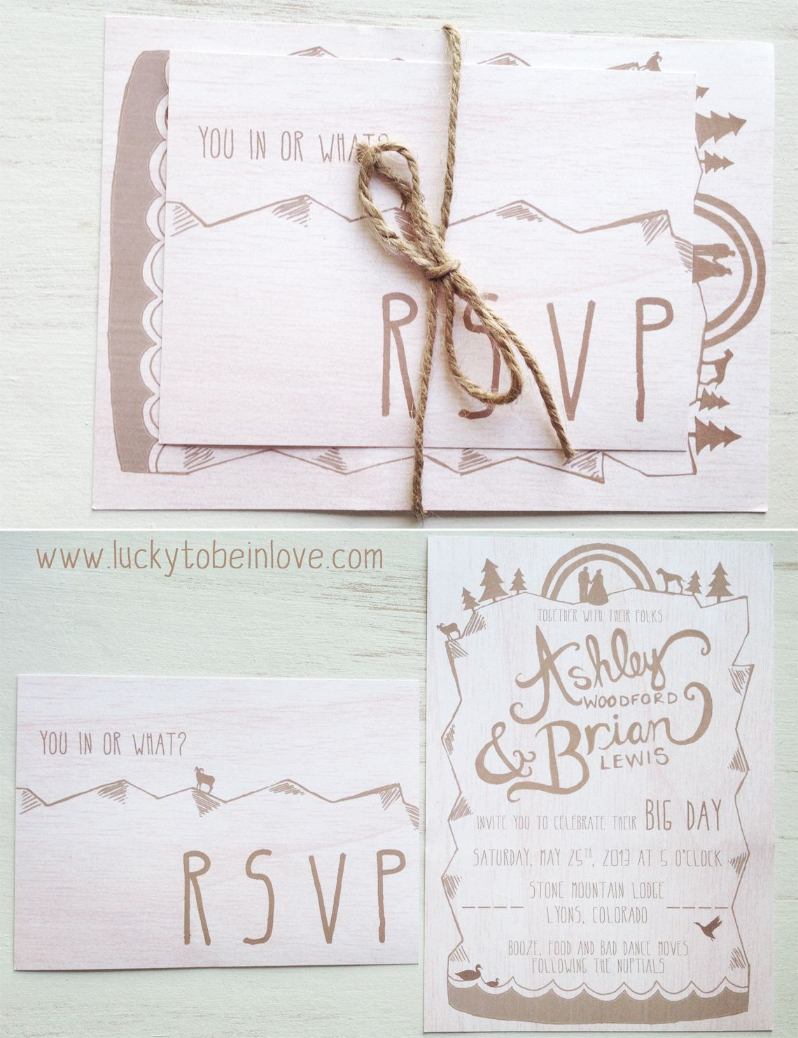 i like the idea of including the RSVP card inside, also