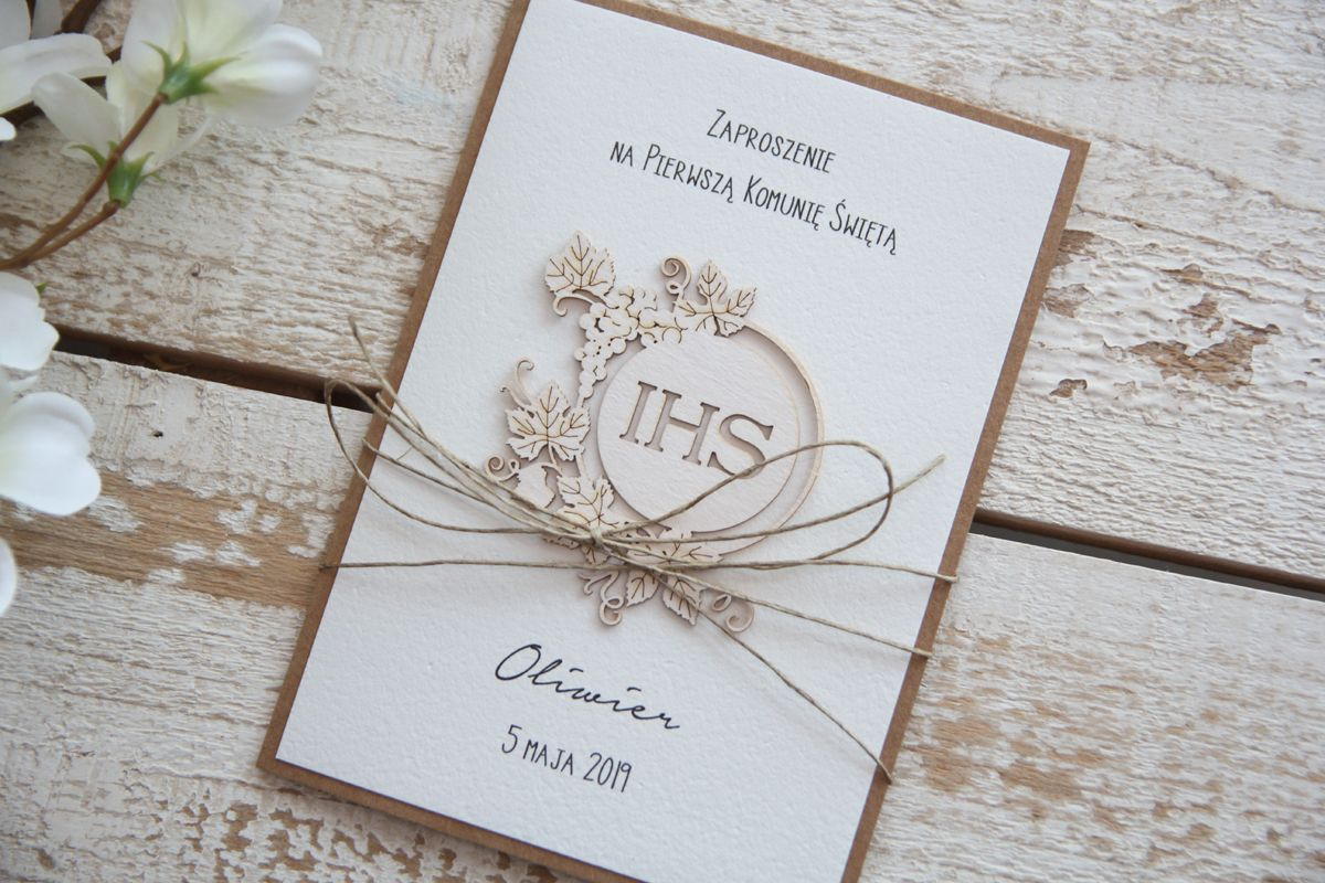 Eleganckie Zaproszenia Komunijne Diy Envelope Place Card Holders Invitations