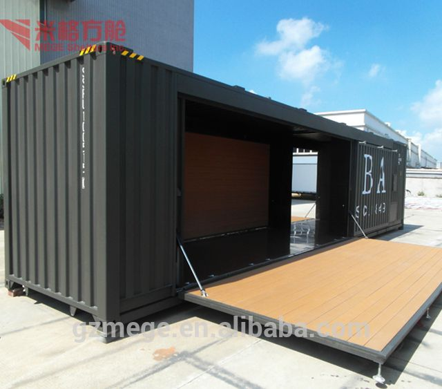 Source Shipping Container Workshop With Hydraulic System Cafe Shop Mobile Cafe Bar Design And F Container Cafe Shipping Container Workshop Container Restaurant