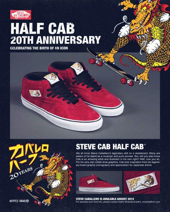 afd57e30e4 Vans Half Cab Artist Series - Steve Caballero Edition - SneakerNews ...
