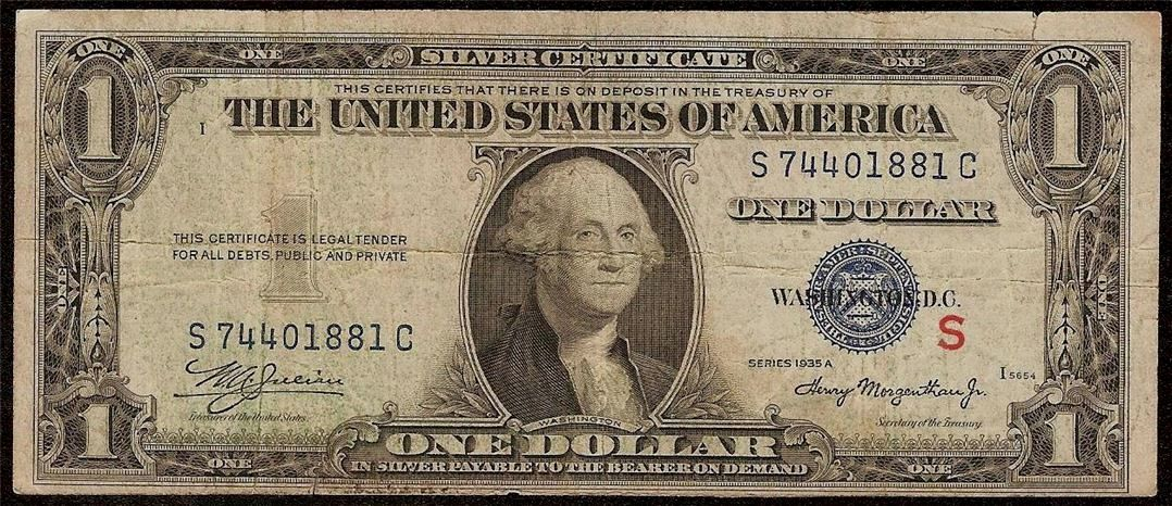 Pin by Betty Wong on Coins | Silver certificate, One dollar