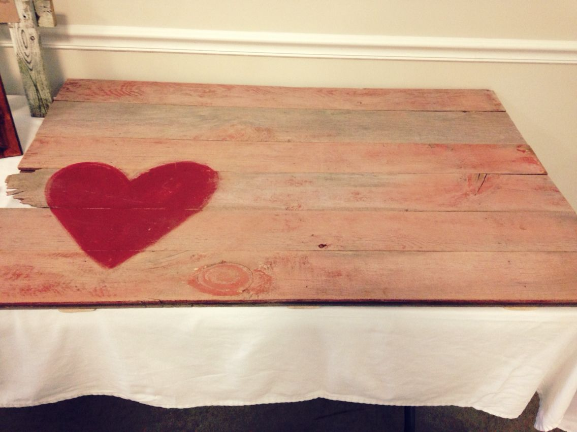 Barn wood guest book