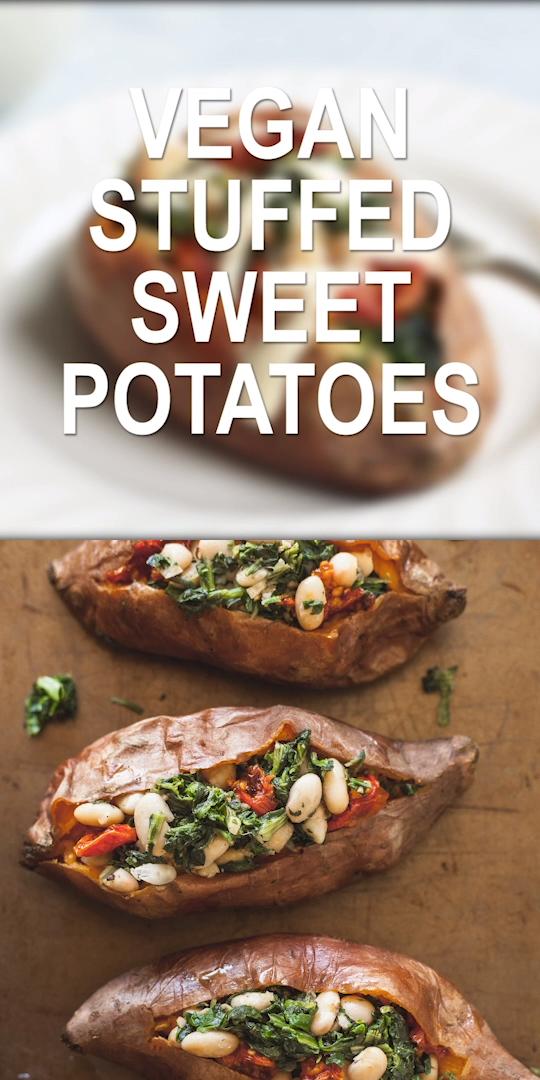 Photo of Patates douces farcies végétaliennes – Alimentation saine – raisin BLog