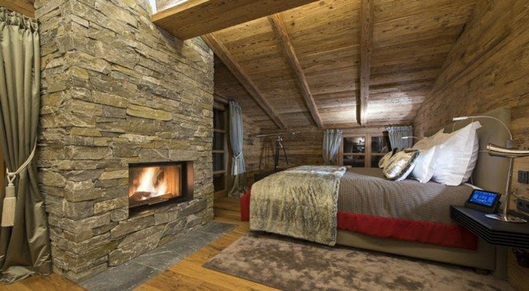 deco luxe inteireur style chalet | chalet chambre | Deco ...