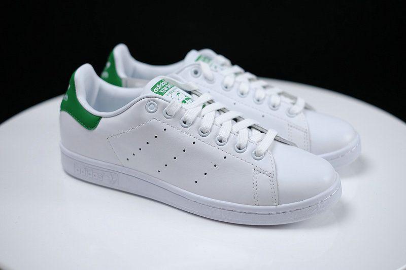 3708b80d758 UK Trainers 2017 Adidas Originals stan smith M20324 White Vapor Green  Chaussures de course    pied