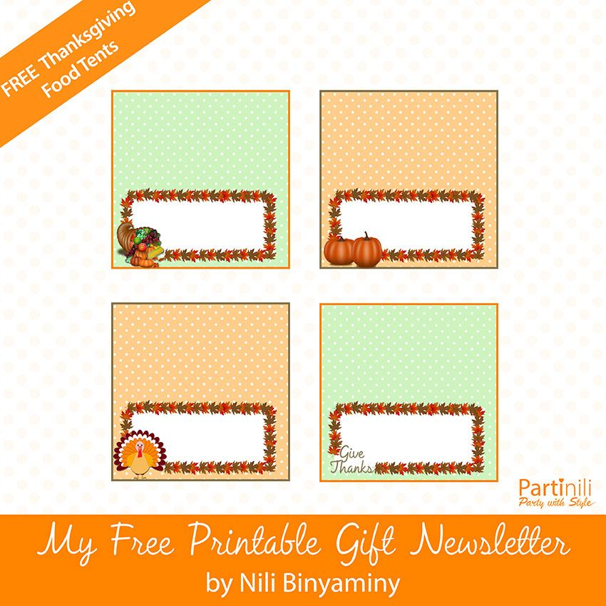 image relating to Free Printable Food Tent Cards titled Free of charge Thanksgiving Printables: Thanksgiving cupcake toppers