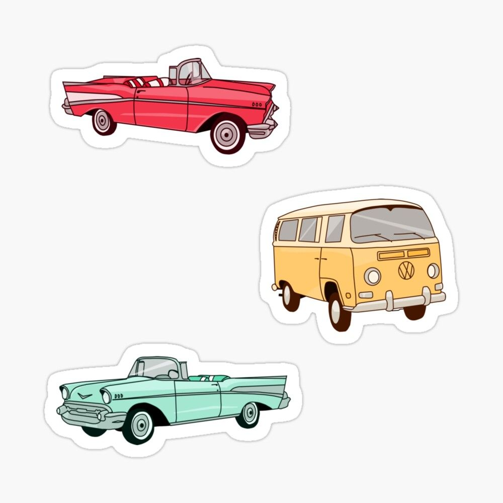 Get My Art Printed On Awesome Products Support Me At Redbubble Rbandme Https Www Redbubble Com I Sticker Retro V Vintage Cars Retro Vintage Print Stickers [ 1000 x 1000 Pixel ]