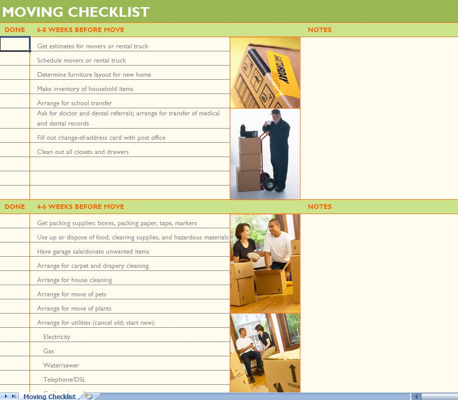 Moving checklist moving day pinterest house and for Moving into a new house checklist