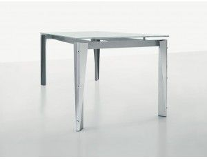 Tavolo barone ~ Metropolis 150 tavolo ovale in acciaio e vetro tavolo con piano
