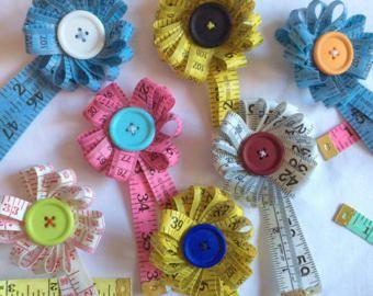 Roseta de cinta reales peculiar broche coser tejer