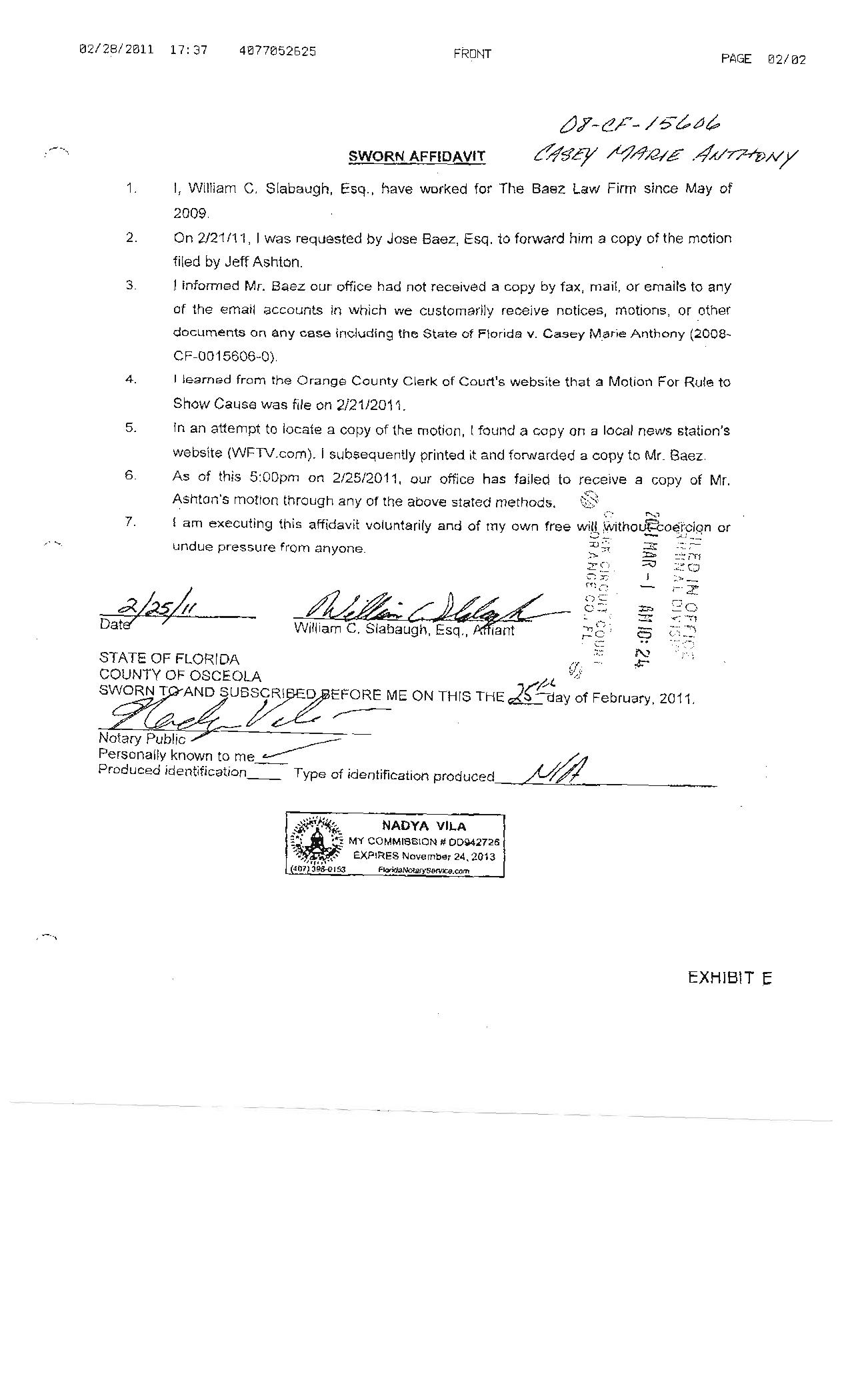 how to get a sworn affidavit