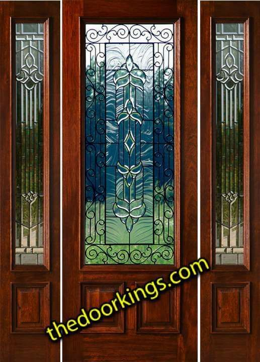 Mahogany Exterior Entry Door With Sidelights 80 Iron Pinterest