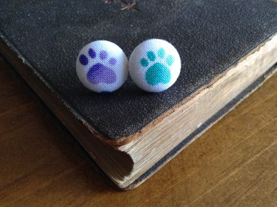 Purple Paws Earrings by BeckyABoutique on Etsy, $6.00