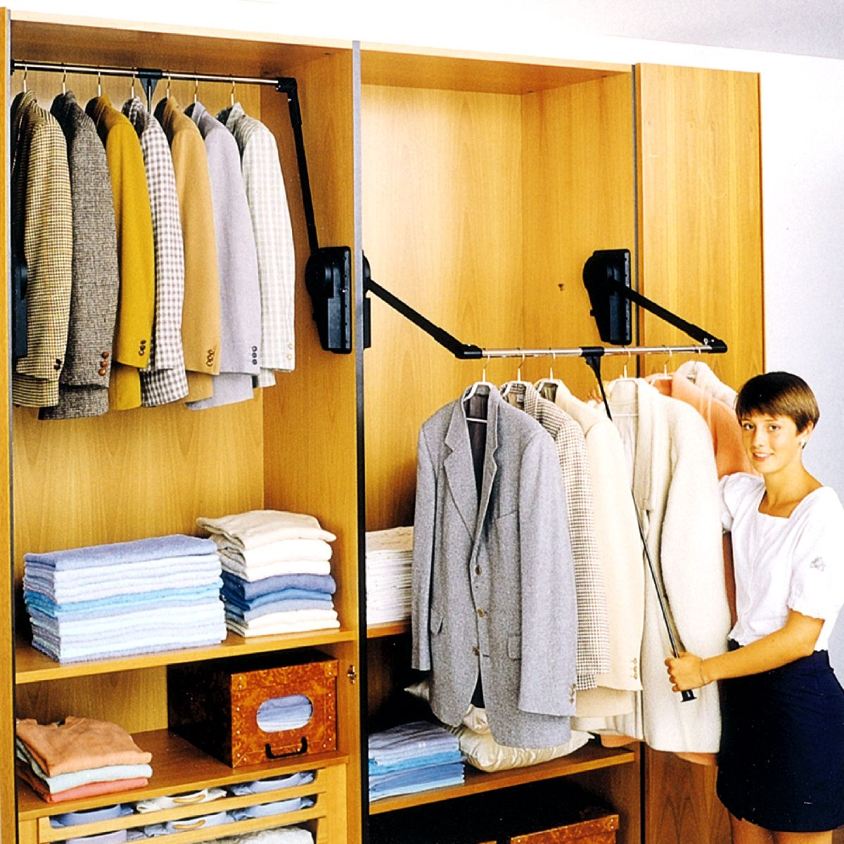 h system closet pull rod a x shelf d wall w cabinet p out large in rev organizers shelving down