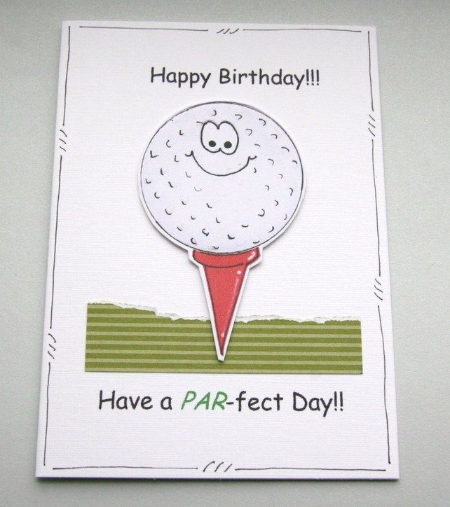 Birthday card golf ball personalised pun cartoon cards for birthday card golf ball personalised pun cartoon cards for men male m4hsunfo